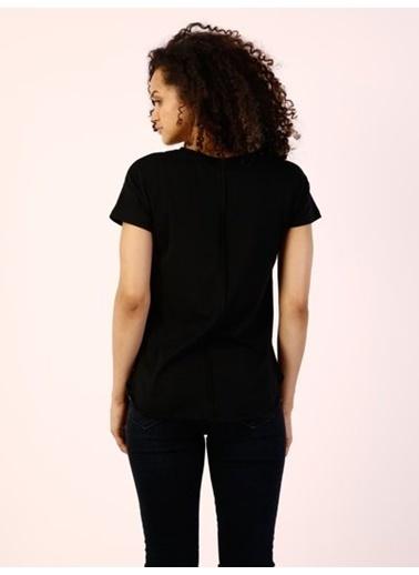 Colin's Baskılı T-Shirt Siyah